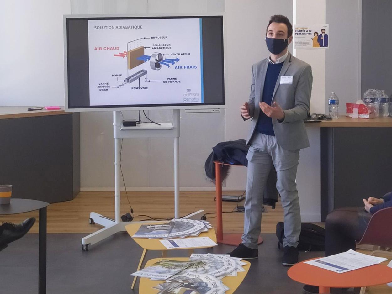 Mathieu Carage technico-commercial Adexsi présente le principe adiabatique