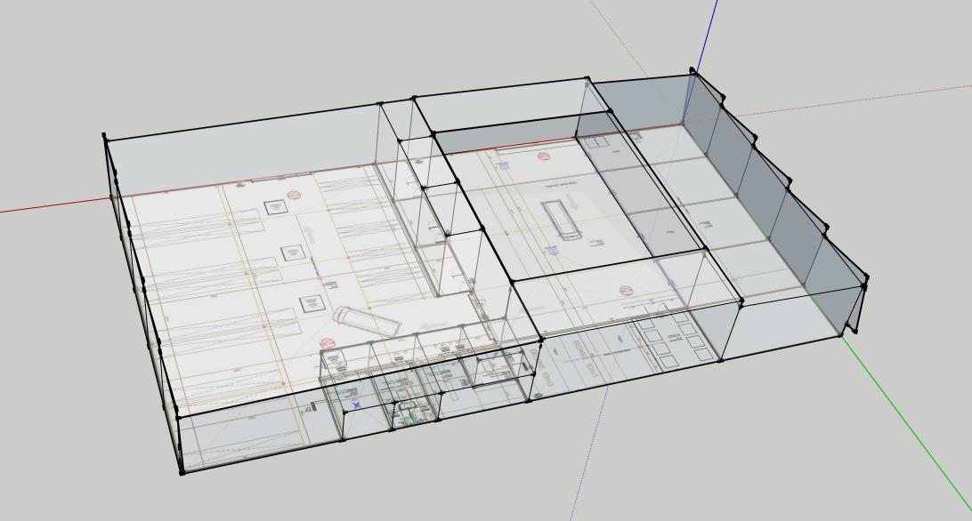 Etude et modélisation Adexsi pour réalisation bâtiment Soprema Montpellier (lanterneaux toiture)