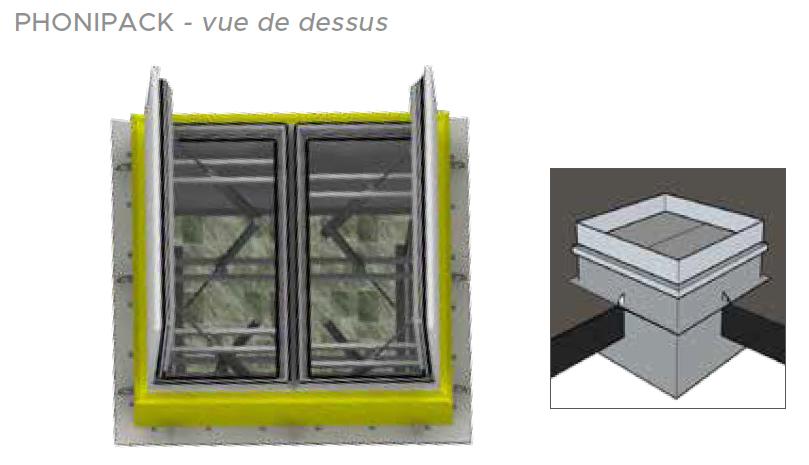 Plan appareil Phonipack Souchier Boullet toiture La Scala Paris référence Adexsi Bluetek