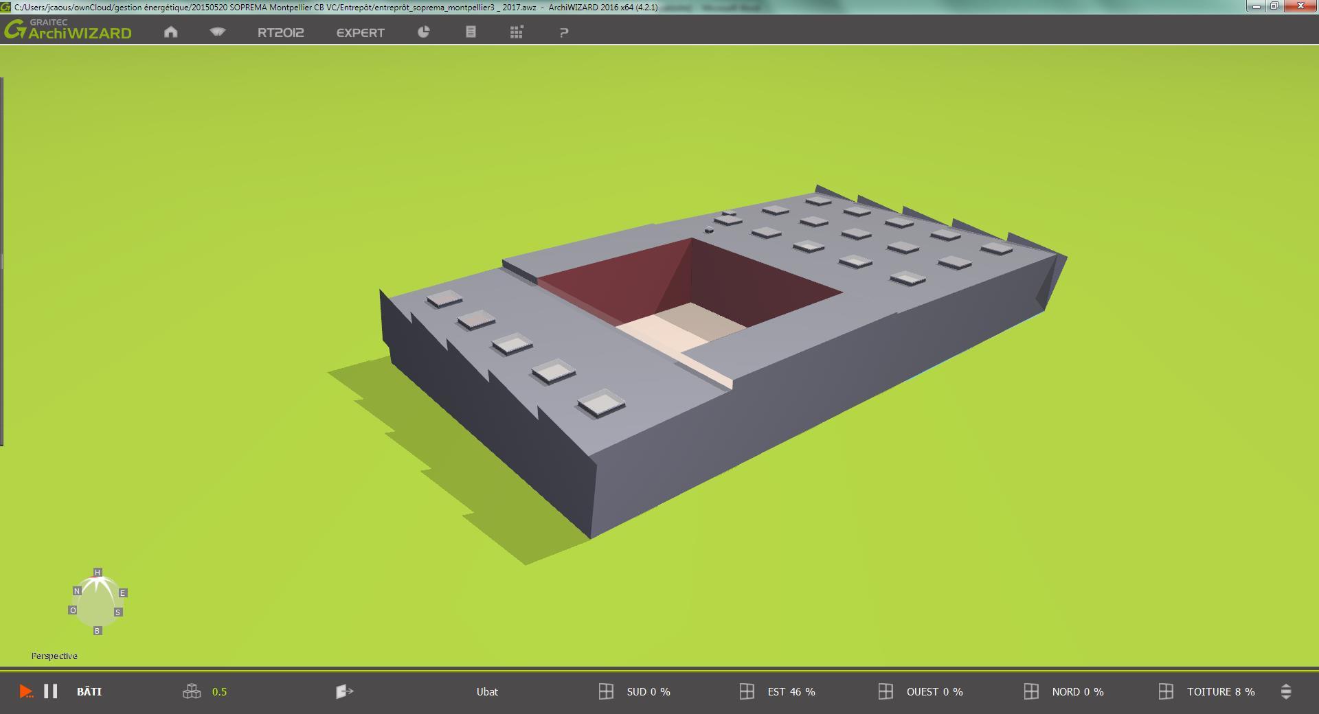 Modélisation bâtiment Soprema Montpellier rendu 3D pour site Adexsi