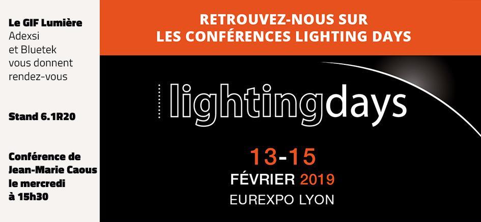 Présence Adexsi Bluetek GIF Lumière Lighting Days Lyon 2019