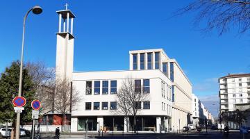 Installation adiabatique bâtiment GRDF Lyon