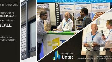 TELLIER BRISE SOLEIL reçoit le trophée d'argent de l'UNTEC 2019