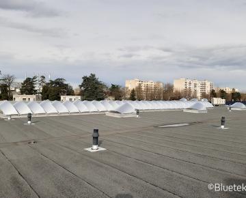 Rénovation brise-soleil Voile-Dôme en toiture concession automobile