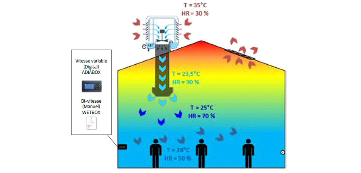 Technologie adiabatique immeuble de grande hauteur